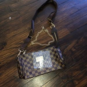 Handbags - Brown Checkered bag